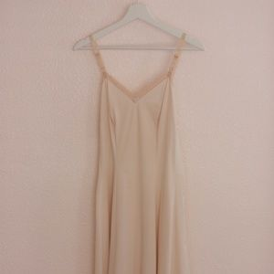 Tan Vintage Lace Slip with added Lace